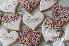 Heart Shaped Valentine's Day Cookies Perfect For Your Lo.- Heart Shaped Valentine's Day Cookies Perfect For Your Love, - Valentine's Day Sugar Cookies, Fancy Cookies, Iced Cookies, Cute Cookies, Cookies Et Biscuits, Cupcake Cookies, Heart Cookies, Iced Biscuits, Heart Shaped Cookies