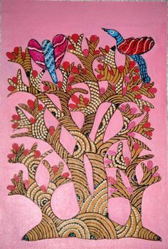 Gonda Art With Acrylic on cotton cloth.