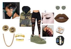 """""""WATCH OUT LITTLE"""" by onsavagemood ❤ liked on Polyvore featuring NIKE, Michael Kors, adidas, Lovebullets, PhunkeeTree, Lime Crime and Ray-Ban"""
