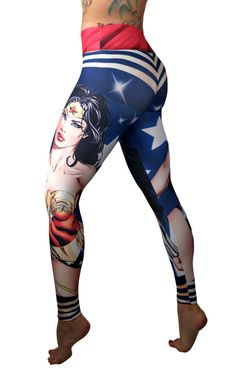 Activewear Superhero Many Styles Leggings Yoga Pants Compression Tights (Wonder Woman - It was the best price by far here and it works perfectly with no issu Superhero Leggings, Sports Leggings, Workout Leggings, Leggings Sale, Best Leggings, Women's Leggings, Printed Leggings, Best Yoga Clothes, Hiking Clothes