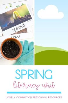 Literacy activities for preschoolers based around four popular read-alouds. This Literacy unit is based on a Spring theme. Literacy Activities, Literacy Centers, Preschool Lesson Plans, Preschool Alphabet, Third Grade Reading, Authors Purpose, Common Core Reading, Vocabulary Cards, Spring Theme