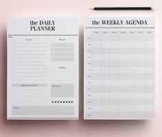 Planer druckfähige A5 Pack, 13 modernen Organizer-Seiten einschließlich Daily Planner, Meal Planner, pro Agenda, To Do List, INSTANT DOWNLOAD