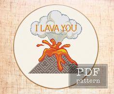 I lava you DIY Funny cross stitch pattern by Mari Bori Embroidery