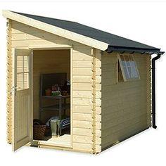 Abri de jardin adossable 5 m² - bois 28 mm PEFC