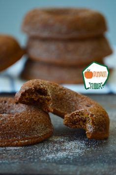 You wont believe how moist these #paleo baked pumpkin spice donuts are featuring the brand new Organic Pumpkin Flour from Anti-Grain Foods.