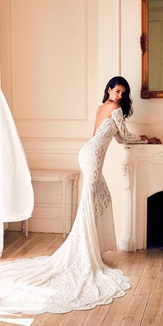 30 Romantic Off The Shoulder Wedding Dresses ❤ off the shoulder wedding  dresses long sleeves low 305cf24ac6