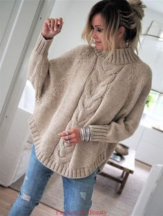Free and Sweet and Cool Crochet Sweater Pattern Ideas Part 44 ; knitting sweaters for women; knitting sweaters for beginners Poncho Pullover, Poncho Sweater, Knitted Poncho, Baby Cardigan, Jumper, Sweater Knitting Patterns, Knitting Sweaters, Crochet Patterns, Free Knitting Patterns For Women