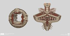 Concepts done for areas in Orbital, a map featured in DOOM DLC Hell Followed All Images © id Software, LLC, a Zenimax Media Company.