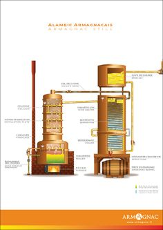 Introduction to Armagnac: History and Production How To Make Vodka, Column Still, Saint Aubin, Moonshine Still, Pot Still, Beer Keg, Homemade Wine, It's Going Down, Root Beer