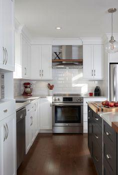 & & & & Kitchen cabinets-wood - cherry which, quartz - Simard Kitchen and bathroom Kitchen Sets, Kitchen Decor, Small Kitchen Organization, New Kitchen Designs, Functional Kitchen, Home Kitchens, Kitchen Remodel, Sweet Home, Kitchen Cabinets
