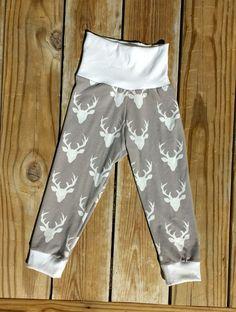 Toddler Kid Baby Buck Deer Christmas Pajama by CherubCheekBoutique