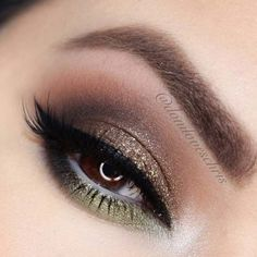 Makeup Ideas For Prom - Brown Gold and Green - These Are The Best Makeup Ideas For Prom and Homecoming For Women With Blue Eyes, Brown Eyes, or Green Eyes. These Step By Step Makeup Ideas Include Natural and Glitter Eyeshadows and Go Great With Gold, Silver, Yellow, And Pink Dresses. Try These And Our Step By Step Tutorials With Red Lipsticks and Unique Contouring To Help Blondes and Brunettes Get That Vintage Look. - thegoddess.com/makeup-ideas-prom