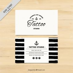 Elite suicide tattoo business card tattoos picture tattoo business hand painted business card for a tattoo studio free vector flashek
