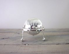 Vintage Silver Plate Footed Butter Dome Dish with by 22BayRoad, $22.00
