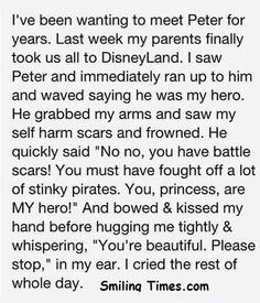 PETER PAN Faith in humanity restored!