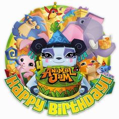 9th Birthday Parties, 11th Birthday, Birthday Wishes, Birthday Ideas, Happy Birthday Animals, Animal Birthday, Animal Jam Codes, Animal Jam Play Wild, Festa Party