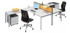 Versatile white office desk range available in a wide choice of sizes, shapes and finishes F-em Office Desks make a great choice.