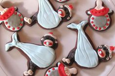 Omg I wish I would've seen these for Lucas' shower Monkey Cookies, Baby Cookies, Baby Shower Cookies, Baby Shower Parties, Baby Shower Themes, Baby Boy Shower, Baby Showers, Shower Ideas, Little Monkeys