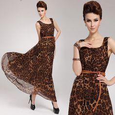 c83bfcf35a maxi vestidos animal print Chiffon Maxi