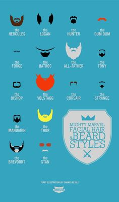 The Brave Beards And Mighty Moustaches Of Marvel And DC Comics @loose__bruce