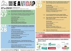 Agenda Cultural RJ: Rio Encontros,  de 27 a 29 de janeiro, no Catete, ...