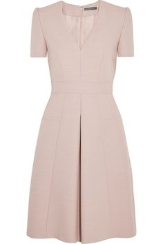 Alexander McQueen Pleated wool-blend dress