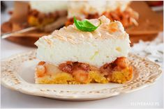 Szarlotka z bezą - I Love Bake Cheesecake, Baking, My Love, Food, Cheesecakes, Bakken, Essen, Meals, Backen
