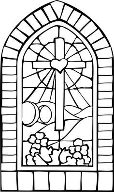 Stained glass coloring pages religious Stained glass, as an art and a craft, requires the artistic skill to conceive an appropriate and workable design, and the engineering skills to assemb. Stained Glass Patterns, Stained Glass Art, Stained Glass Windows, Easter Coloring Sheets, Easter Colouring, Cross Coloring Page, Bible Coloring Pages, Coloring Book, Easter Religious