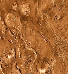 Ancient water: Channels scoured by ancient outbursts of flood waters are seen in this orbital view from Mars Odyssey's Thermal Emission Imaging System. The features are billions of years old. Credit: NASA/JPL-Caltech/ASU
