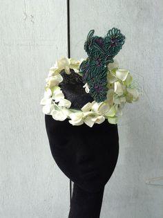Designer Fascinator Headpiece  Hat Sinamay by LaHatterieMillinery