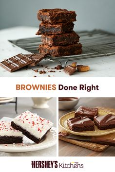 Create a new tradition by serving fudgy brownies this holiday season. With or without icing, they'll always be a hit! These recipes are so easy to make, you'll want to create batch after batch. Make these delicious chocolate desserts at home using HERSHEY'S Cocoa today.