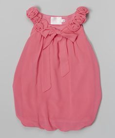 Look what I found on #zulily! Hot Pink Ruffle Bubble Dress - Toddler  Girls by Blossom Couture #zulilyfinds