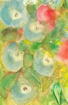 morning glories, my painting but i don't know where it is! Glad there is a copy on flickr.
