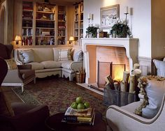 Ecomanta: Secret tips on How to Lay out a Living Room by David Easton My Living Room, Living Area, Living Spaces, Aspen House, Cozy Fireplace, Family Room Design, French Country Decorating, White Furniture, Beautiful Interiors