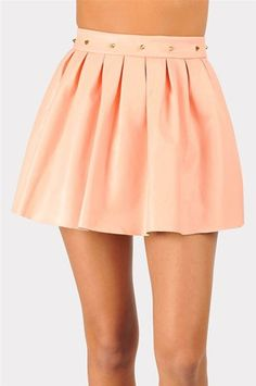 #Necessary Clothing       #Skirt                    #Bone #Leather #Skirt #Peach #Necessary #Clothing   Bad To The Bone Leather Skirt - Peach at Necessary Clothing                                             http://www.seapai.com/product.aspx?PID=8975