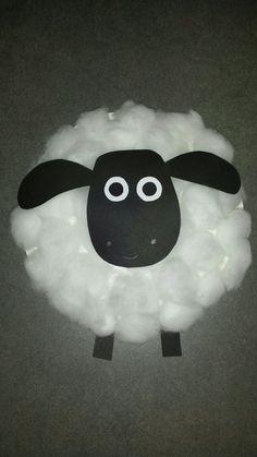 Pappteller Schaf Timmy Shawn das Schaf mit Watte
