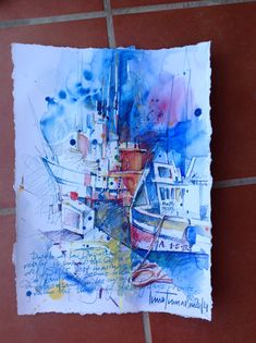 Inna, Office Supplies, Art, Watercolor Painting, Spain, Art Background, Kunst, Gcse Art