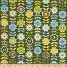 """Free Spirit Fabrics' Retreat - Green By Jenean Morrison Collection : In My Room - 100% Cotton, 43/44"""" - Available at http://www.popularfabric.com/en/buy/i/Jenean_Morrison_Retreat_-_Green"""