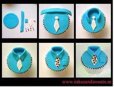 Cakes and Sweets: Steg för steg - Cupcakeskjorta till farsdag