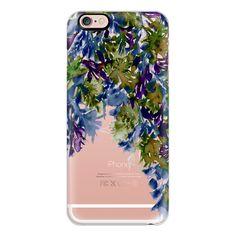 FLORAL CASCADE 4 - Watercolor Abstract Painting Deep Winter Eggplant... ($40) ❤ liked on Polyvore featuring accessories, tech accessories, iphone case, iphone cases, flower iphone case, purple iphone case, iphone cover case and apple iphone case