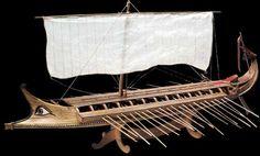 Greek Bireme - Model Ship Kit, Wooden Model Ship Kit by Amati Model Ship Kits