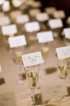 18 Wedding Escort Card Ideas to Help Seat Your Guests - champagne wedding escort cards{A&P Designs} Creative Place Cards Wedding, Wedding Seating Cards, Wedding Reception Seating, Wedding Place Cards, Wedding Escort Card Ideas, Reception Party, Table Wedding, Wedding Paper, Reception Ideas