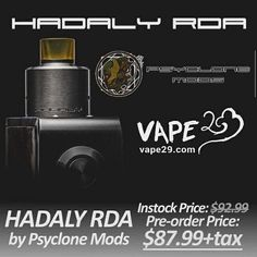 Hadaly RDA by Psyclone Mods available for #preorder at $87.99+tax, $5OFF included! #psyclonemods #hadalyrda #flavourchasing
