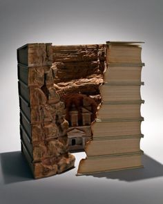 The Carved Book Landscapes of Guy Laramée The human spirit transcends the known through the work of Guy Laramée the Montreal based artist who pushes the materiality of the common book to the limit. Continuing the lines drawn by Caspar Friedrich and Gerhard Richter, Laramée admits to his attraction to spirituality. He combines the old philosophies of Asian arts and Zen and draws energy from Romanticism. Yatzer caught up with the artist to discover his approaches to his practice and discussed…
