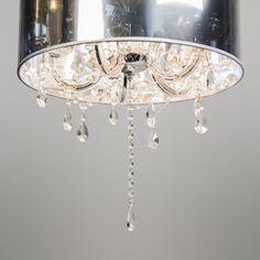 Lámpara de araña MARIE THERESA 5 con pantalla plata