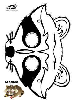 Great bushcraft know-hows that all survival fanatics will definitely want to know today. This is most important for preppers survival and will certainly save your life. Raccoon Craft, Raccoon Mask, Owl Mask, Racoon, Animal Mask Templates, Printable Animal Masks, Animal Masks For Kids, Mask For Kids, Animal Art Projects