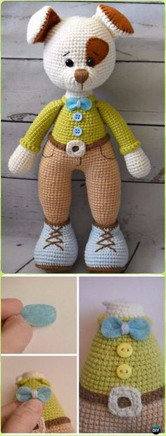 Crochet Puppy Bruno Free Pattern - Crochet Amigurumi Puppy Dog Stuffed Toy Patterns