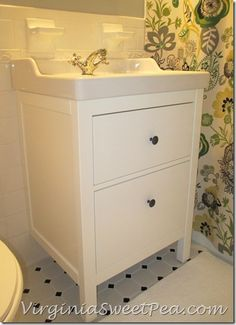 Bathroom Renovation Update :: How to Install an Ikea Hemnes Sink - Sweet Pea