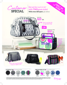 June Customer Special!! Contact me to book a party or for details on placing an order... www.mythirtyone.com/jacobsonj