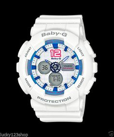 5cfc5b362de5 BA-120-7B White Leopard Casio Baby-G Analog-Digital Display Watches